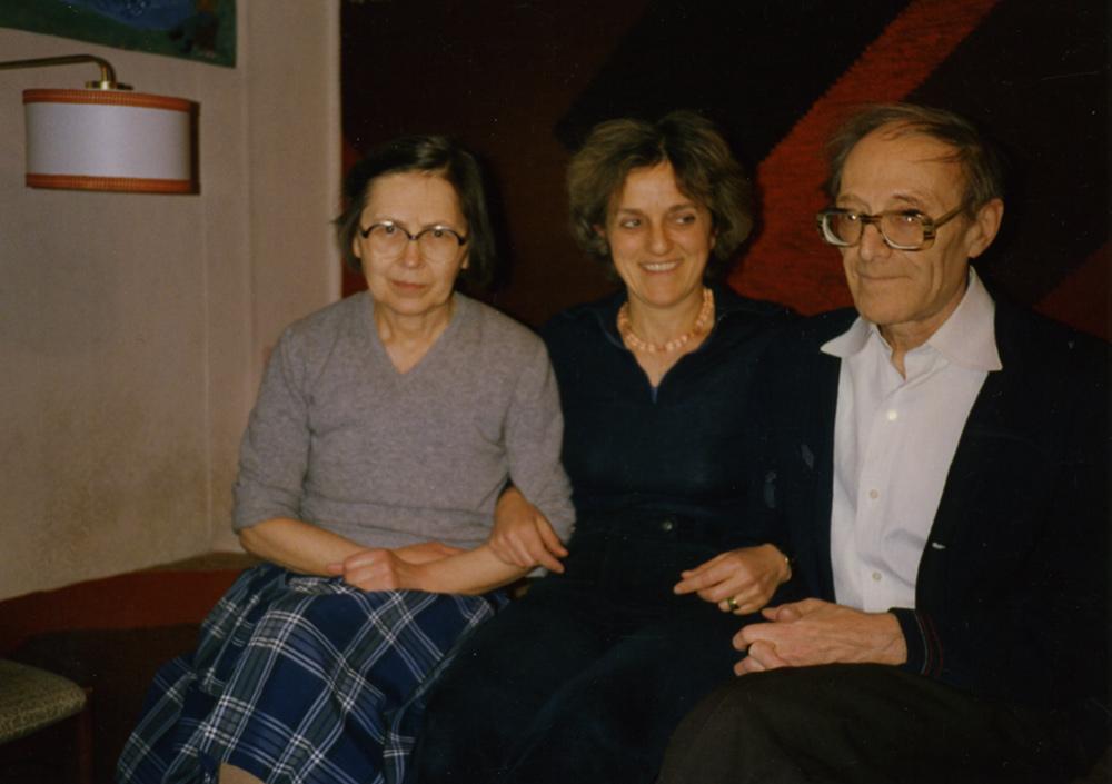 Справа налево: Локшин, Франческа Фичи-Джусти (подруга семьи), жена Татьяна