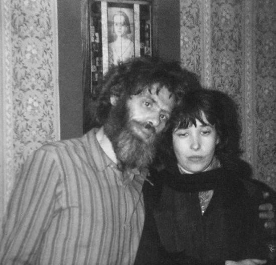 Елена Шварц и Виктор Кривулин