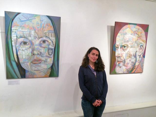 Виктория Басина на выставке
