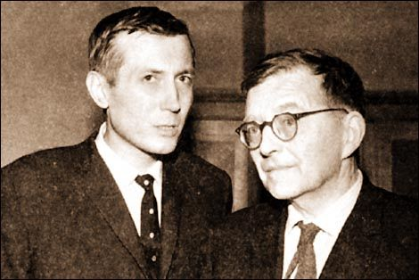 Е. Евтушенко и Д. Шостакович