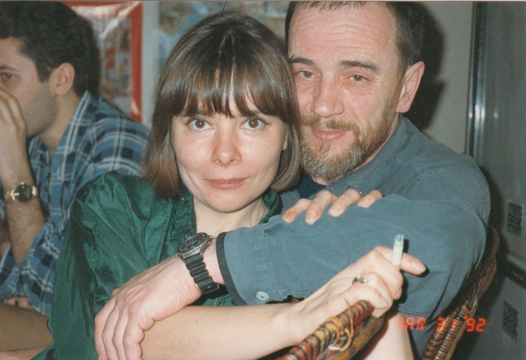 С Алексеем Хвостенко в Париже, в сквоте русских художников, 1992 год