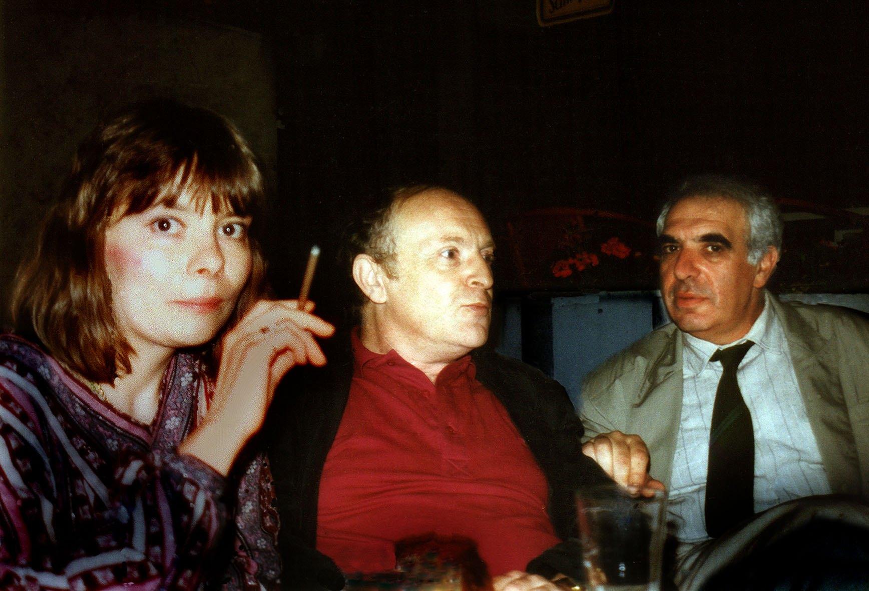 На международном поэтическом фестивале в Роттердаме, 1989 г. Татьяна Щербина, Иосиф Бродский, Евгений Рейн