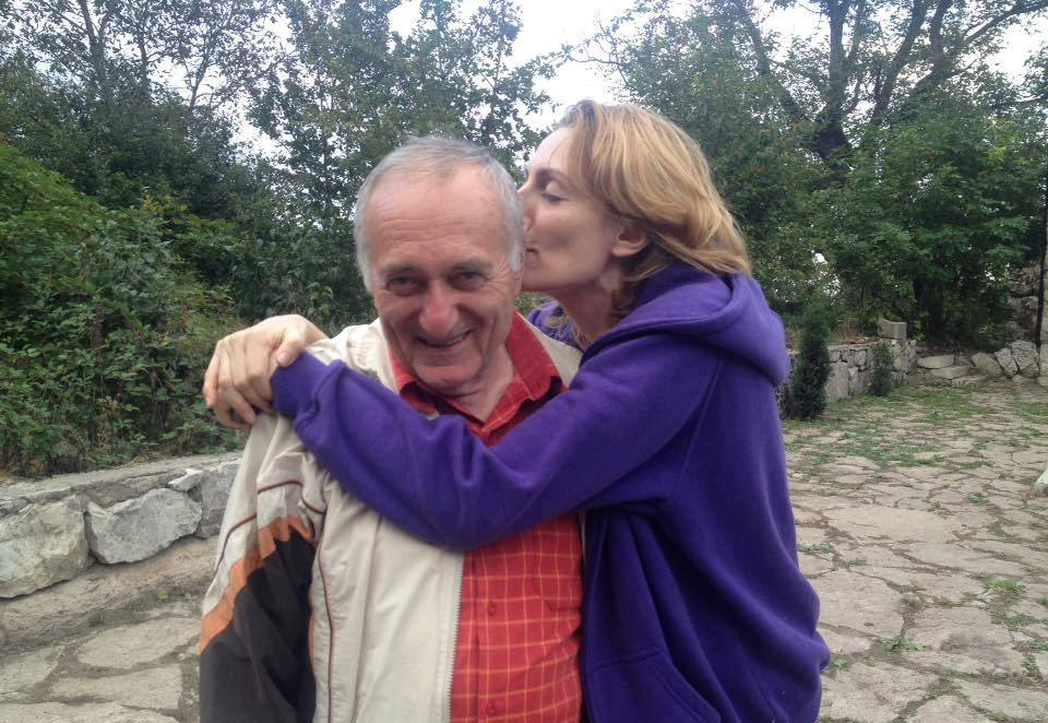 Наринэ с папой Юрией Абгаряном