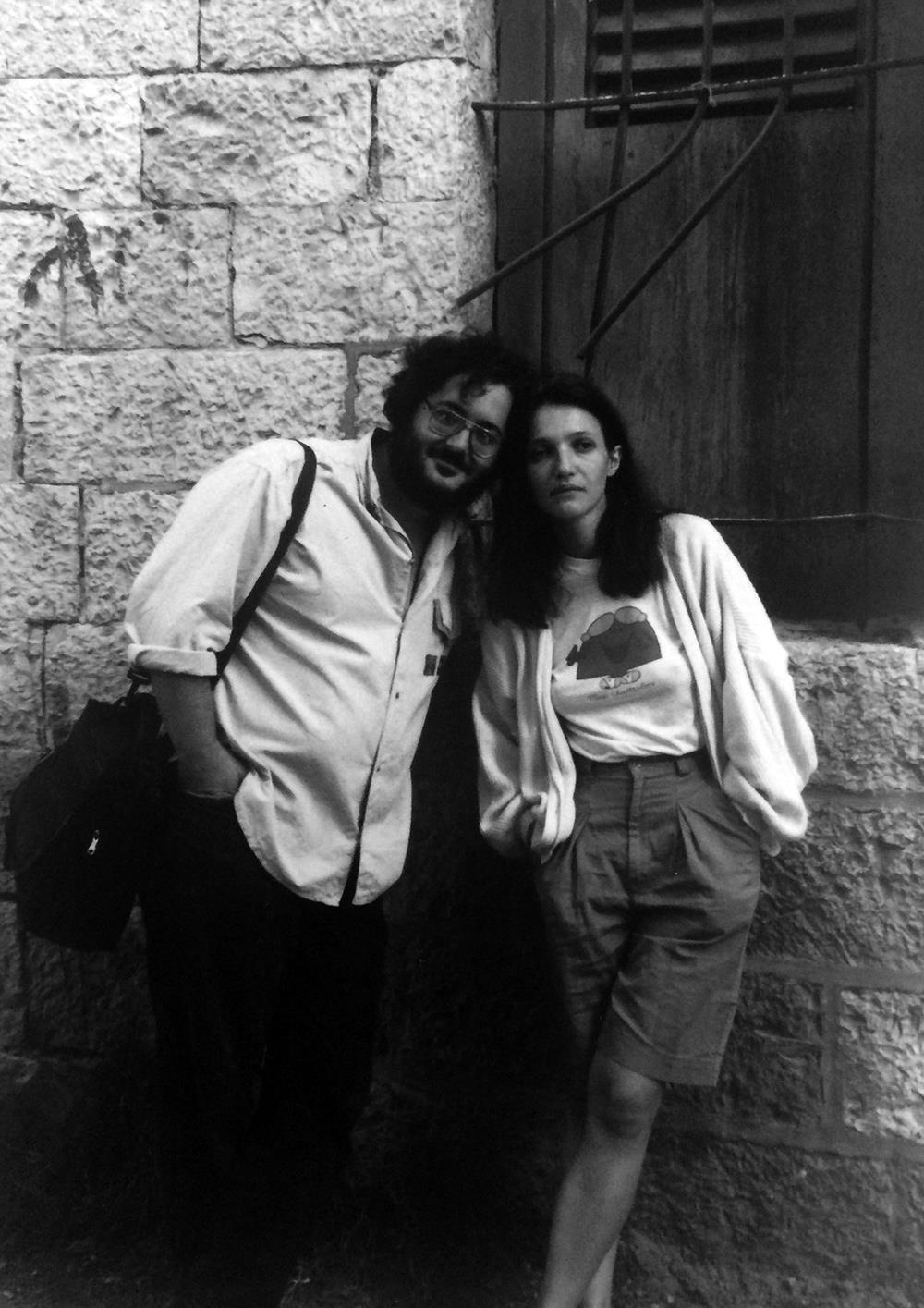 Саша Бараш и Катя Капович, Израиль, 1992-й год