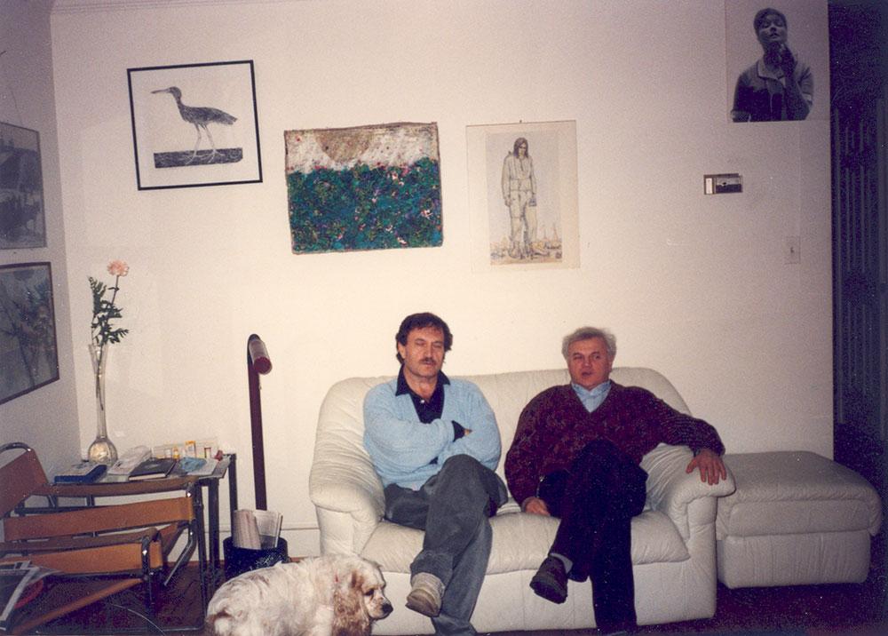 Василий Аксенов и Виктор Славкин, Вашингтон, 1990-й год