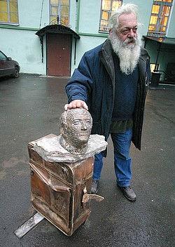 Памятник Бродскому, скульптор К. Симун