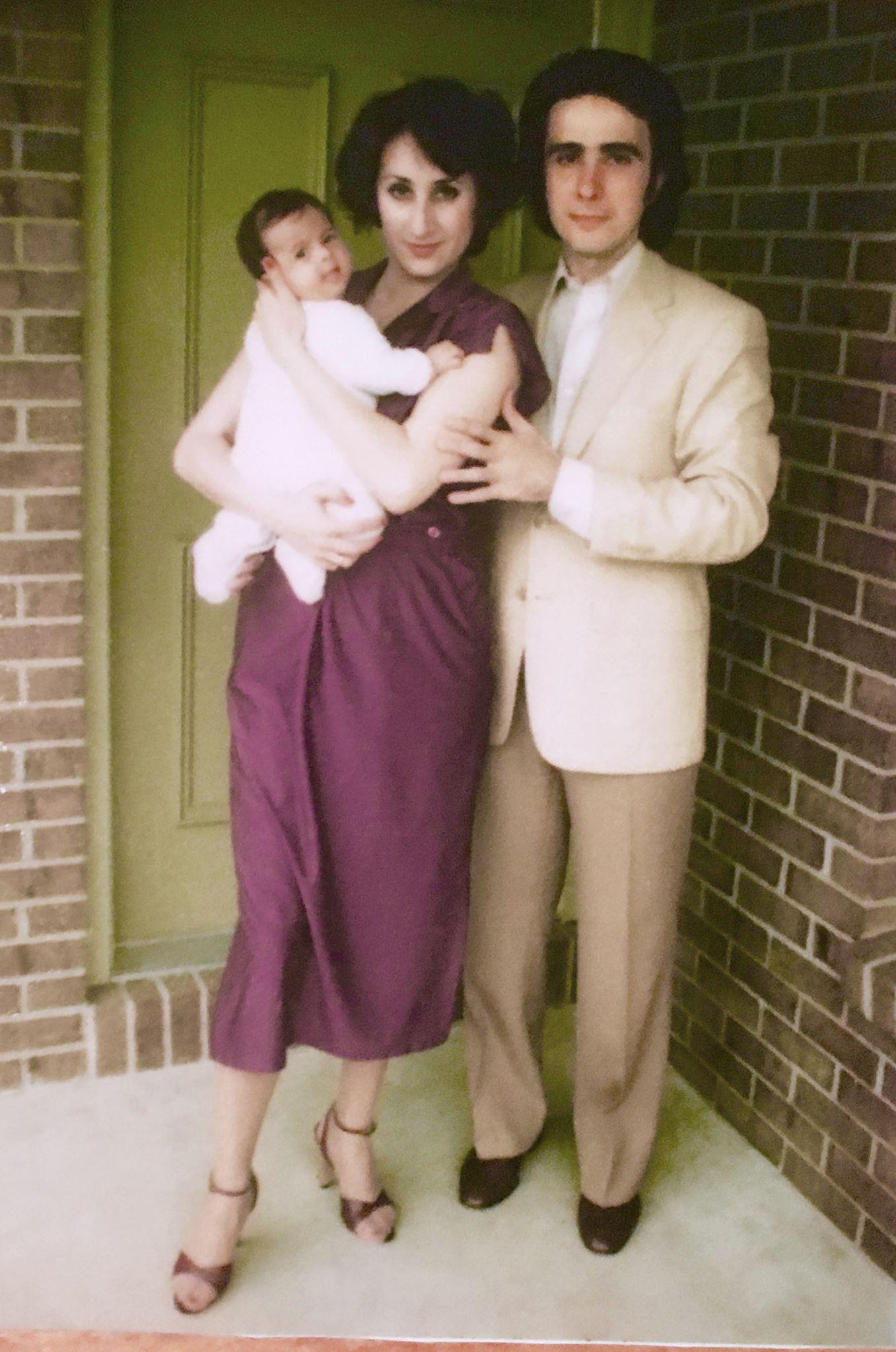 Сантьяго с женой Наташей и дочкой Вероникой, начало 80-х