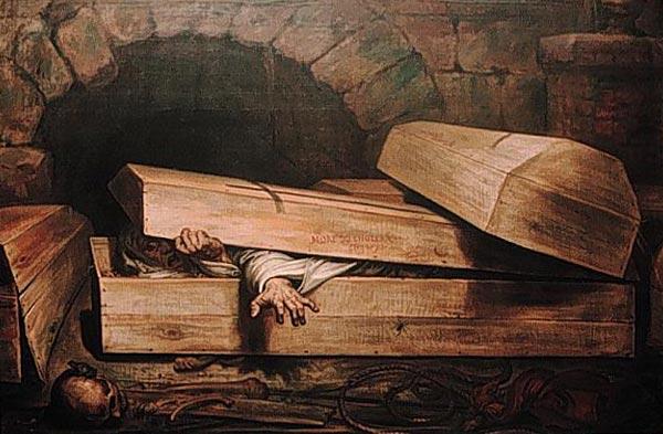 Антуан Вирц, Преждевременное погребение, 1854