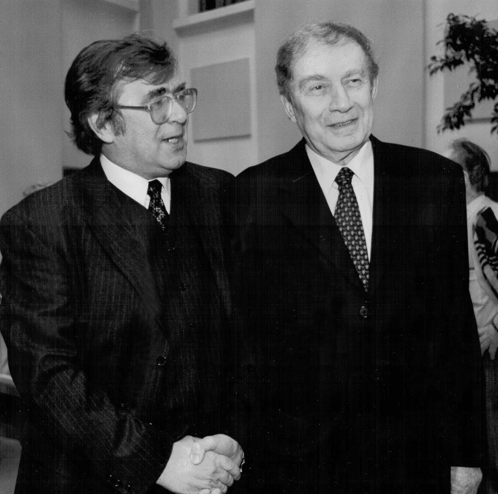 Начало 90-х. Сергей Иванович Чупринин с Григорием Яковлевичем Баклановым