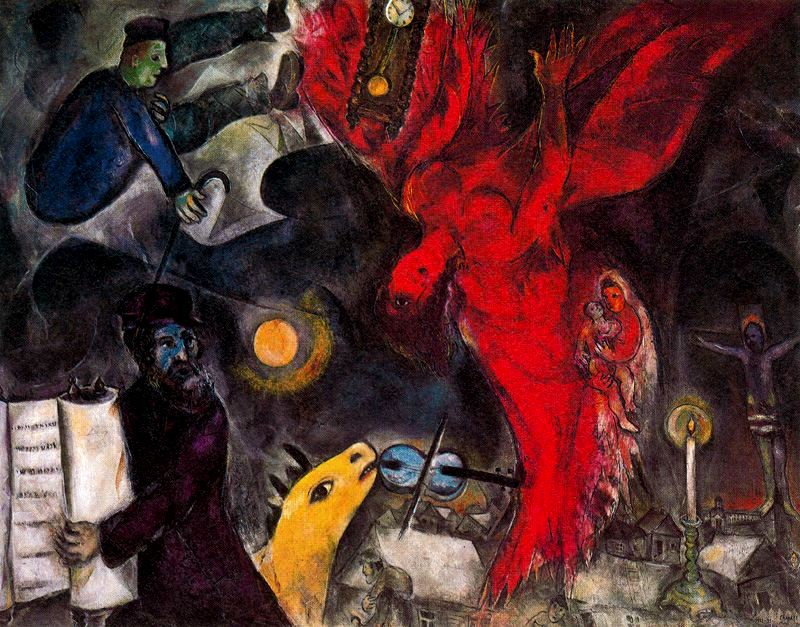 Марк Шагал, Падение ангела, (1923 -1933 -1947)