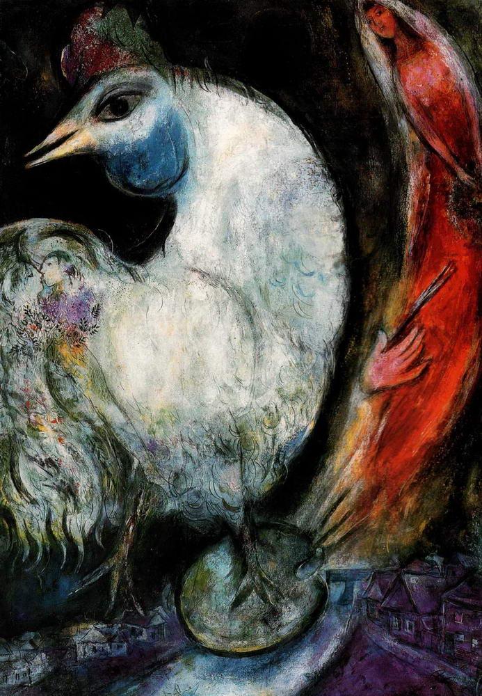 Марк Шагал, Петух, (1947, Париж, Национальный музей современного искусства)