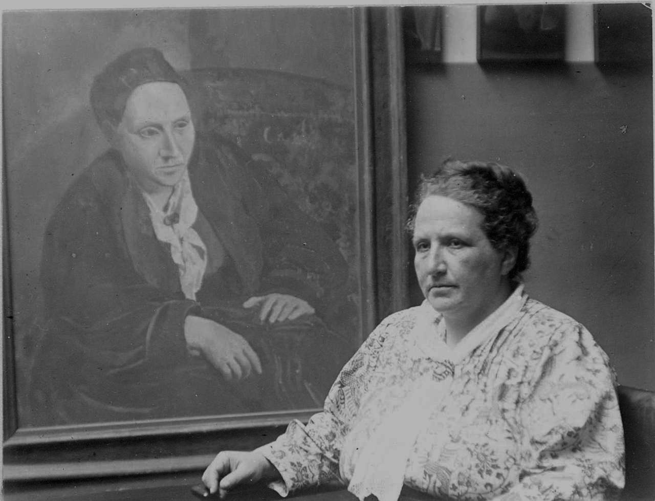 Гертруда Стайн с автопортретом