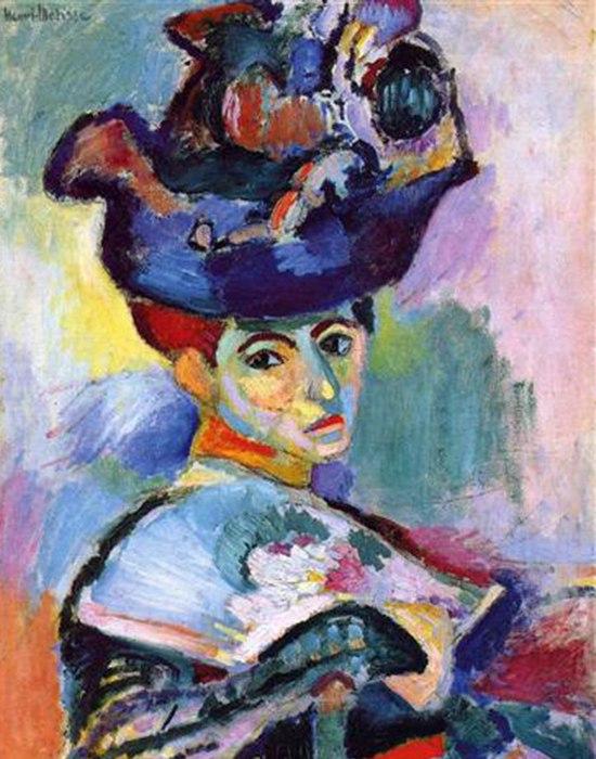Анри Матисс, Женщина в шляпе, 1905, маслом на холсте; музей современного искусства Сан-Франциско, по завещанию С. Элис Хаас