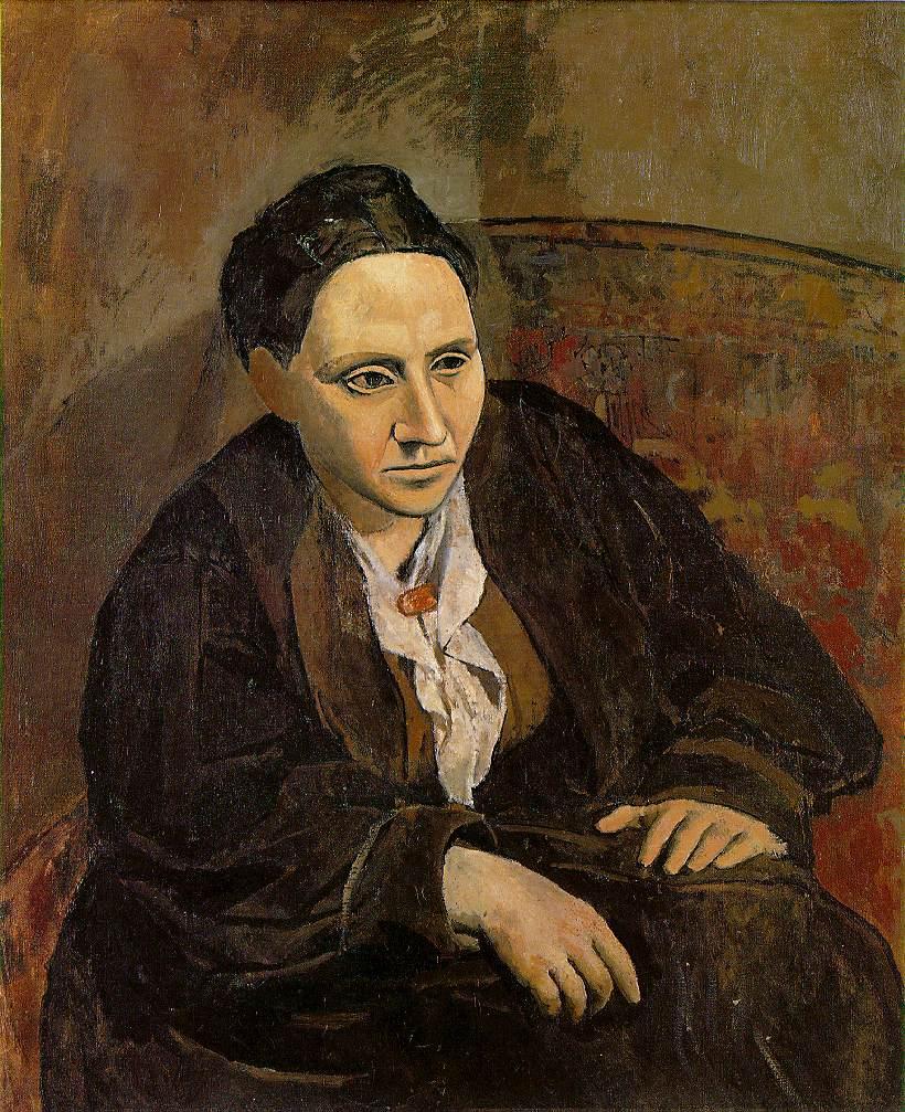 Пабло Пикассо, Гертруда Стайн, 1905-06 Маслом на холсте; Музей Метрополитен, Нью-Йорк, завещание Гертруды Стай