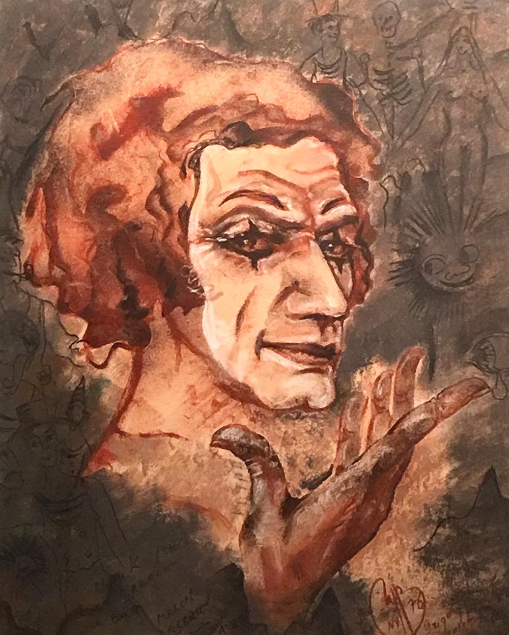 Портрет Марселя Марсо работы Г.Гуревича
