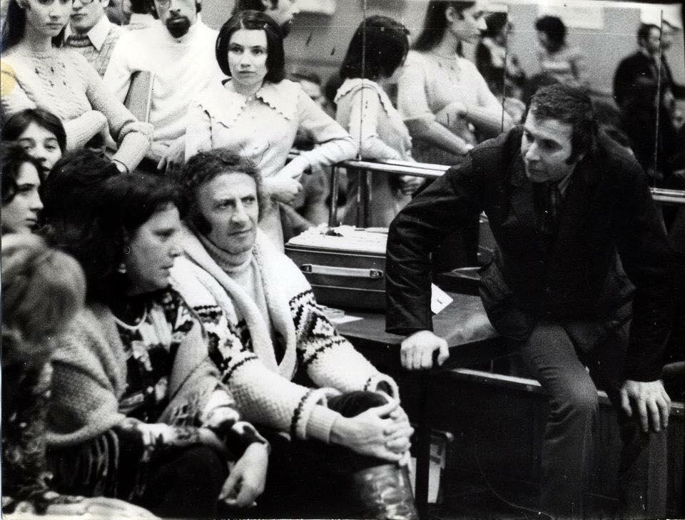 Марсель Марсо в студии пантомимы Григура в Ленинграде