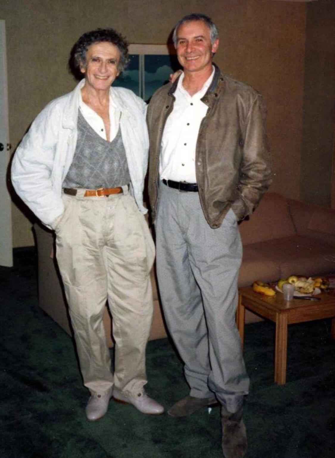 Марсель Марсо и Григорий Гуревич в Амхерсте, Массачусетс, США