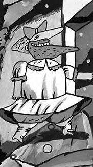 Иллюстрация Максима Исаева к сказке Как царь ушел в девочки для первого номера журнала Топ-Шлёп