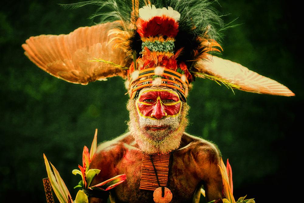 Мужчина с Западных высокогорий Папуа Новой Гвинеи. © Александр Химушин / The World In Faces