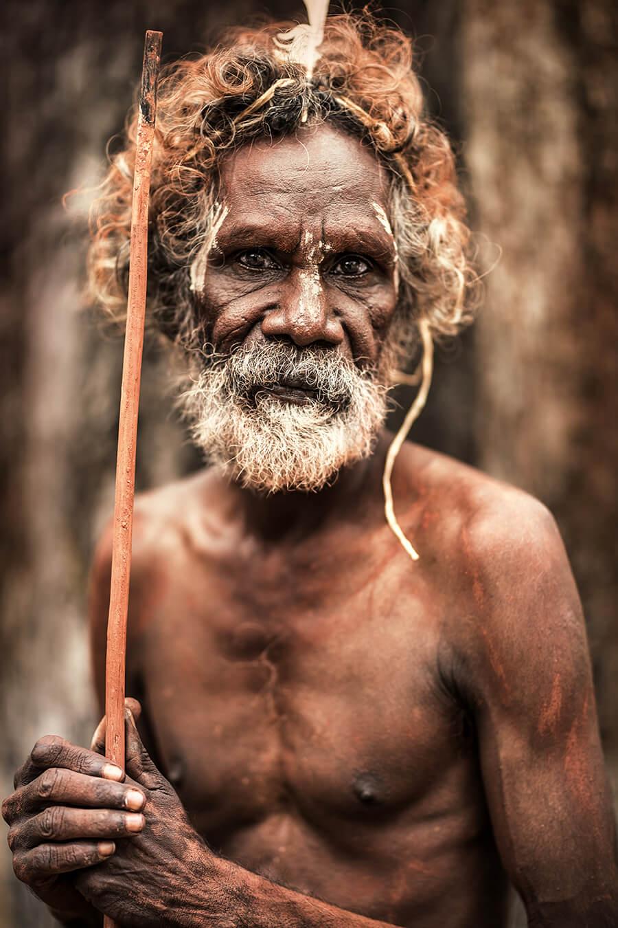Старейшина из аборигенского поселения Пормпуурау, Австралия, п-ов Кейп-Йорк © Александр Химушин / The World In Faces