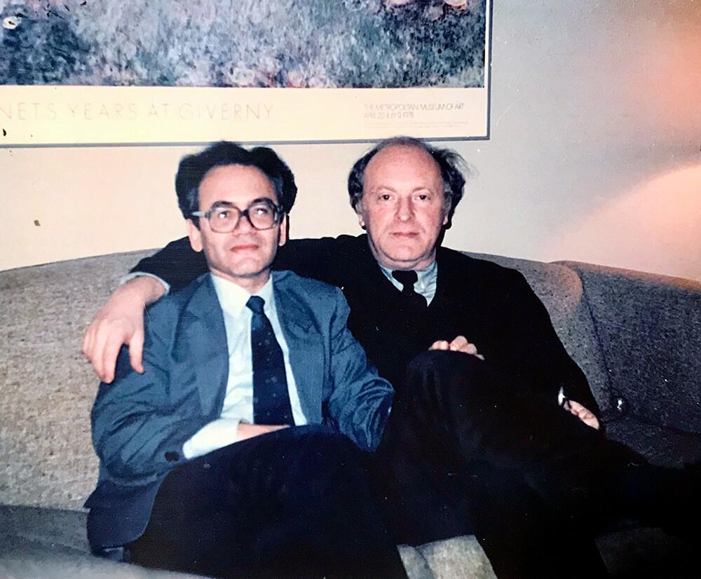 А. Кушнер с И. Бродским, Вашингтон, декабрь 1987