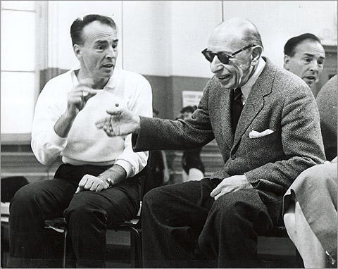 Баланчин и И.Стравинский в студии Нью-Йорк Сити балет. Фото Martha Swope