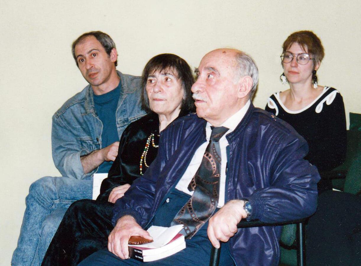 Семен Липкин, Инна Лиснянская, Ефим Бершин, Юлия Рахаева, 1995 год
