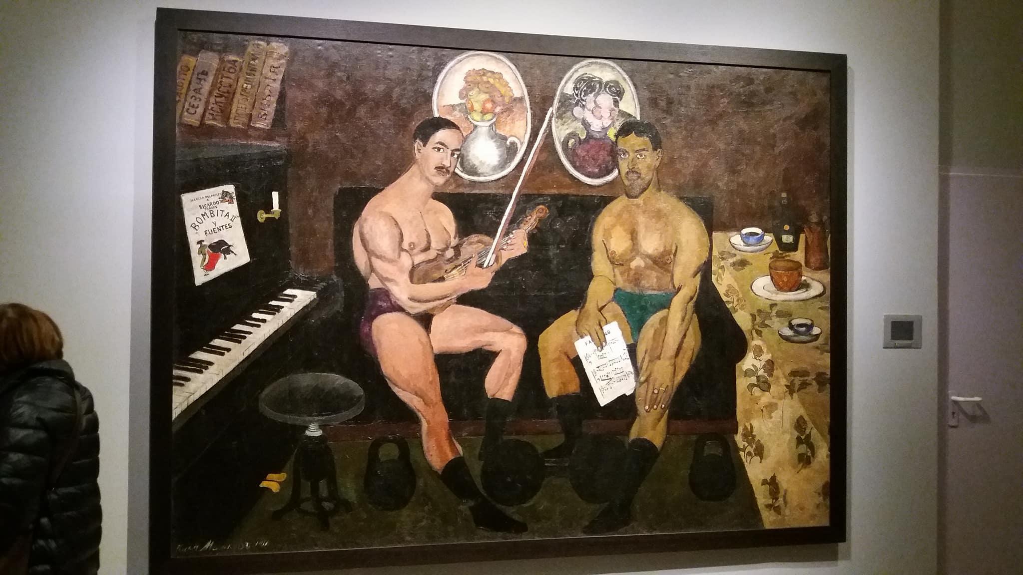 Илья Машков. Автопортрет и портрет Петра Кончаловского. 1910