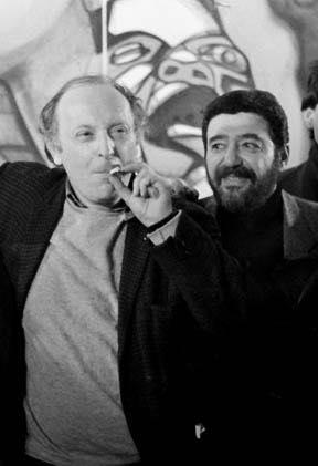 Роман Каплан и Иосиф Бродский в САМОВАРЕ. Фото Нины Аловерт