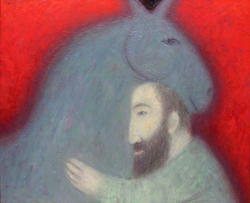 Григорий Иванов. Старик с лошадью