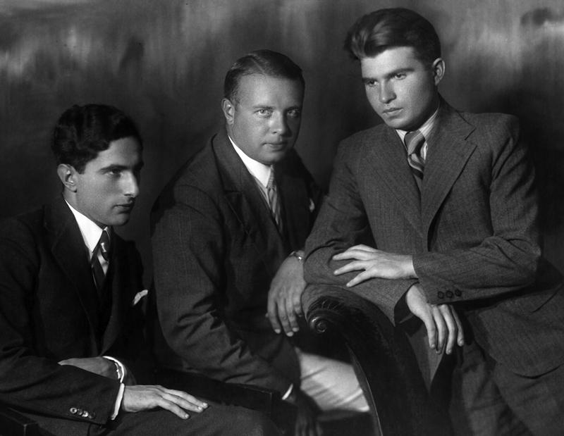 Я. Флиер, Л. Оборин, Э. Гилельс, 1938 г.