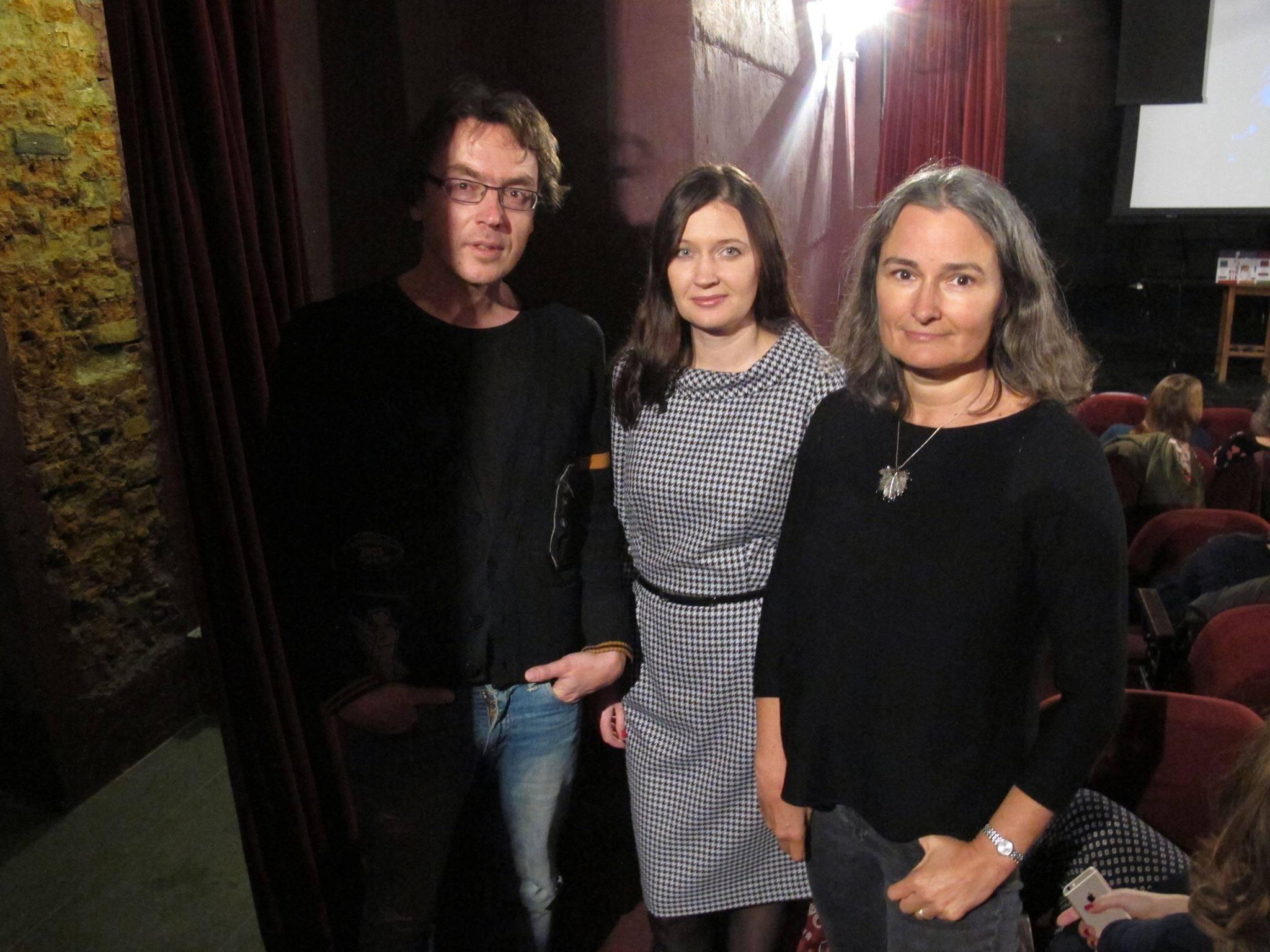 Презентация журнала ЭТАЖИ в Москве в Доме Булгакова, февраль 2016: Дмитрий Воденников, Ирина Терра, Вера Павлова