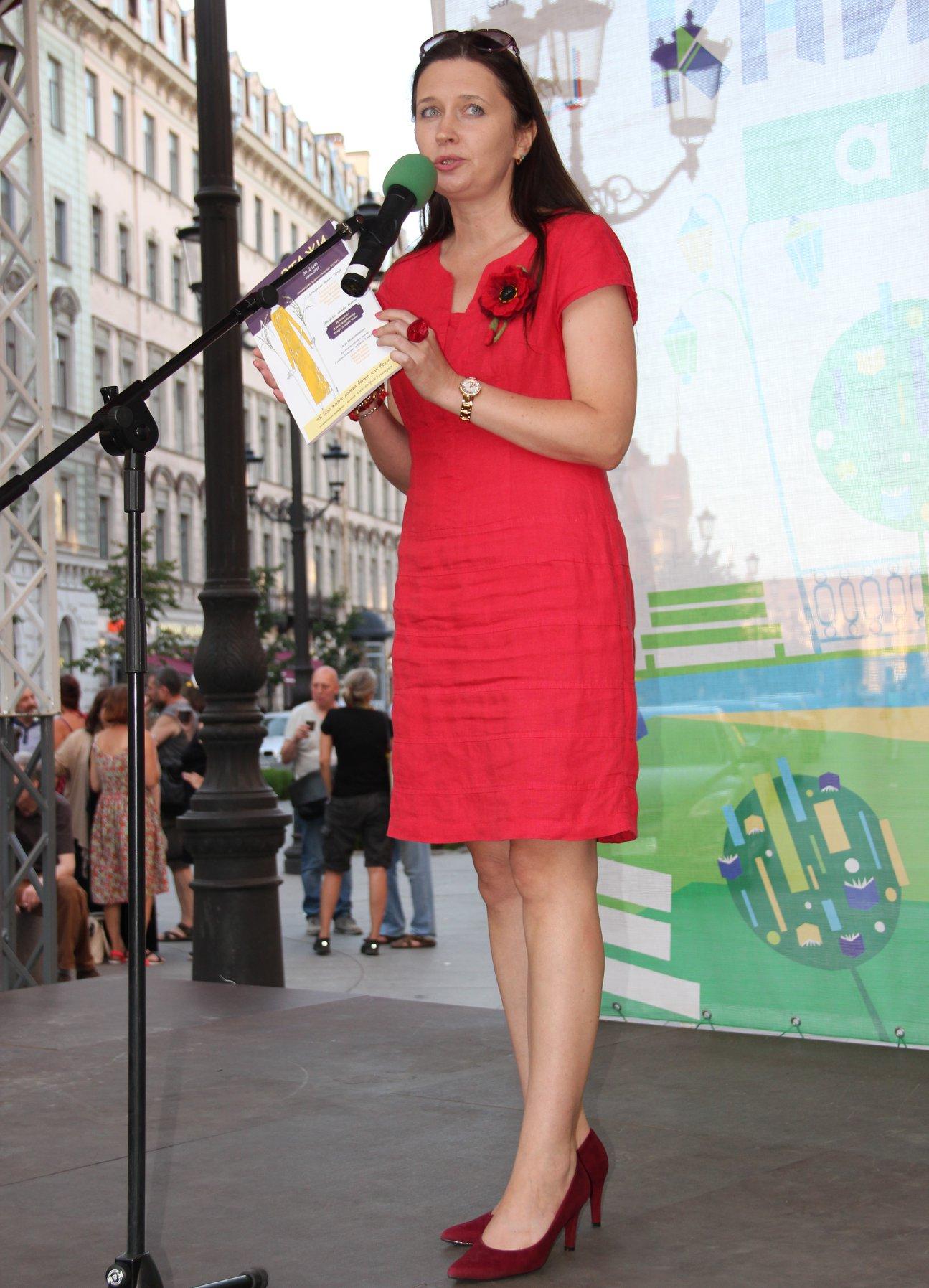 Презентация Этажей на фестивале Петербургские мосты, июль 2018: Ирина Терра