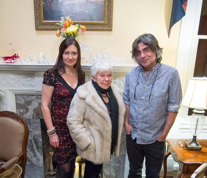 Презентация журнала ЭТАЖИ в Вашингтоне, февраль 2016: Ирина Терра, Ирэна Орлова, Игорь Курас