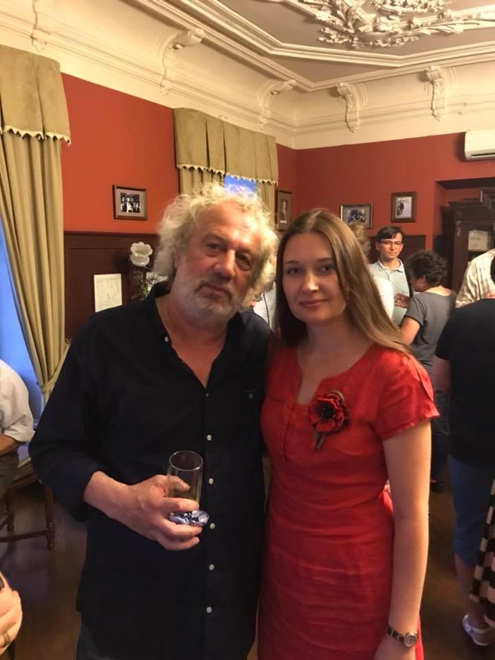 Владимир Гандельсман и Ирина Терра, творческий вечер В. Гандельсмана в гостиной отеля Старая Вена