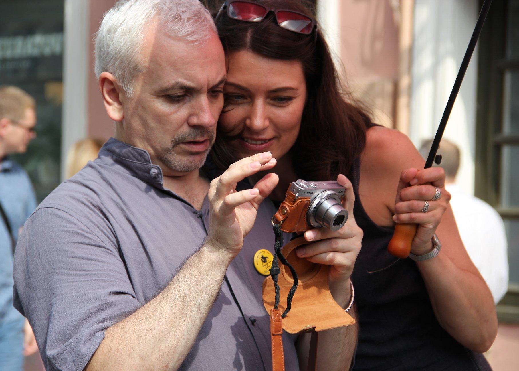 Организаторы фестиваля Дмитрий Легеза и Ольга Аникина