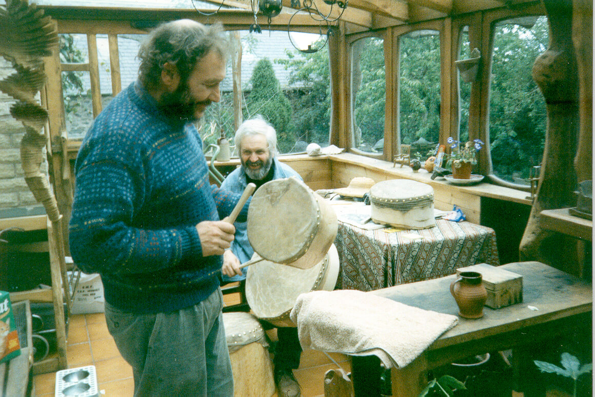 Тим Стэд (на переднем плане) и Эдуард Берсудский, 1994 г
