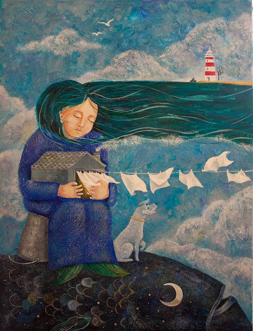 Жена смотрителя маяка. Художник Полина Побережская