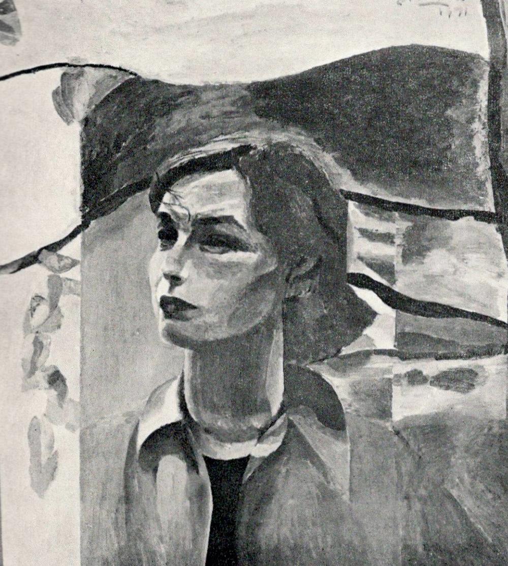 Портрет Валентины Синкевич работы В. Шаталова