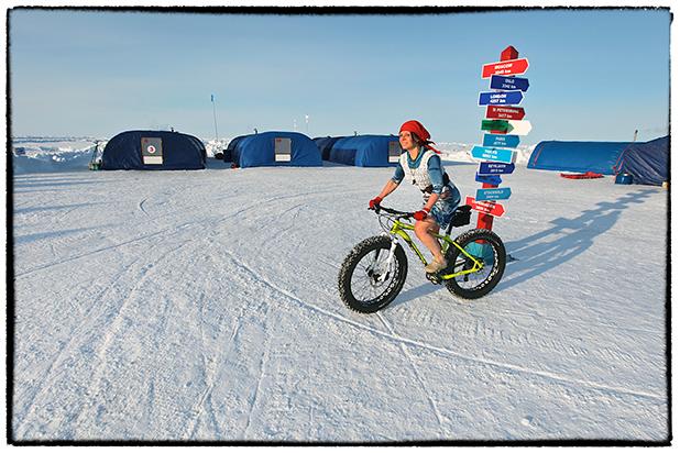 Галя Моррелл на вершине планеты — на Северном Полюсе. 2016