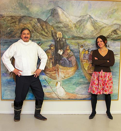 Галя и Оле выступают в доме для Старых Людей в столице Гренландии Нууке. 2014