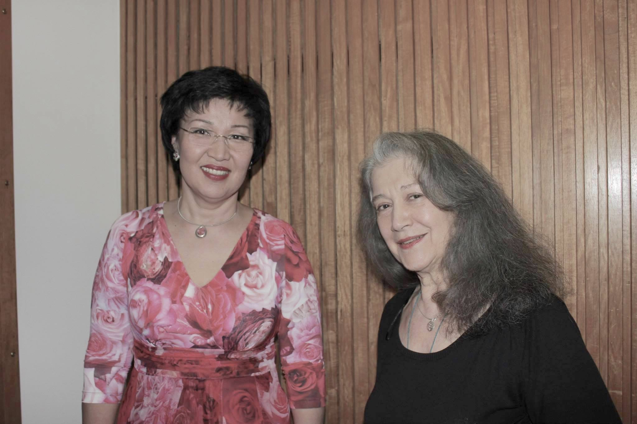 Фестиваль Progetto. Жания и Марта Агрерих (Martha Argerich), г.Лугано, 2014 г.