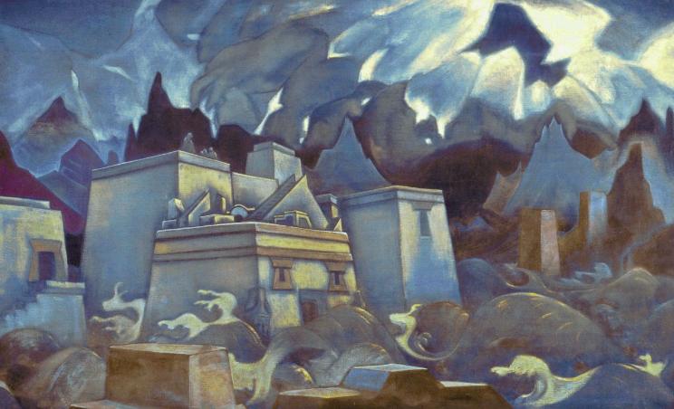 Гибель Атлантиды, Николай Рерих, 1928