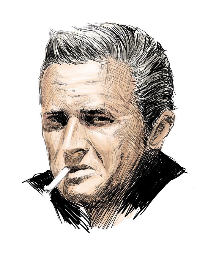 Портрет Марека Хласко. Автор неизвестен