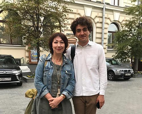 Елена Кушнерова и Константин Емельянов (после финальных выступлений)
