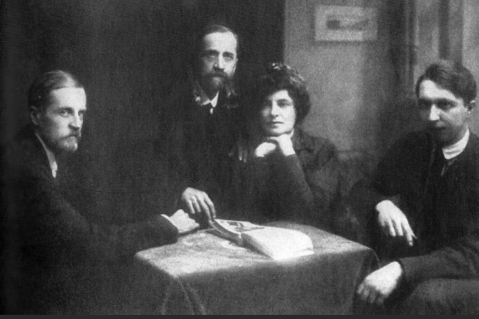 Д. В. Философов, Д. С. Мережковский, З. Н. Гиппиус, В. А. Злобин. Конец 1919 — начало 1920