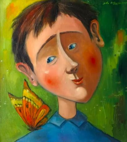 Бабочка и мальчик. Kakha Khinveli