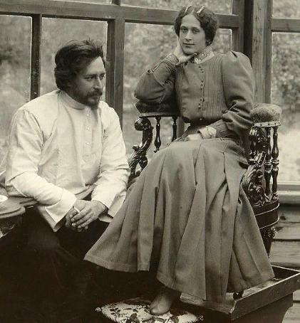 Леонид Андреев с женой Анной