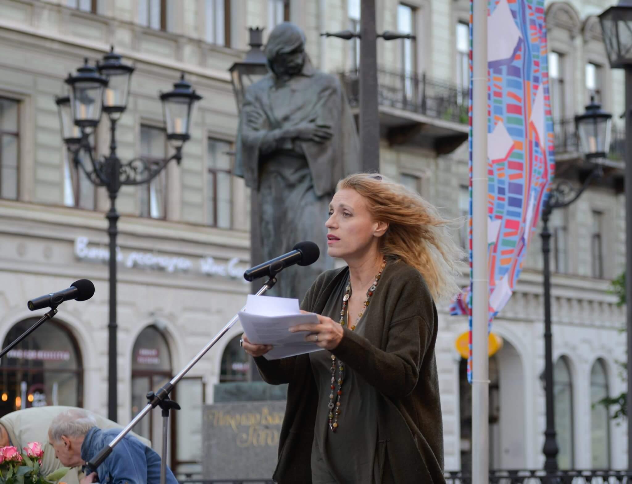 На фестивале Петербургские мосты, 2019. Фото Юлии Рымкевич