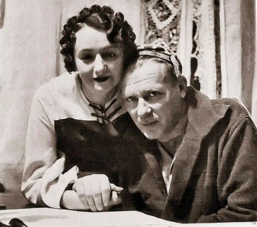 Михаил Булгаков с женой Еленой Шиловской, 1939 г